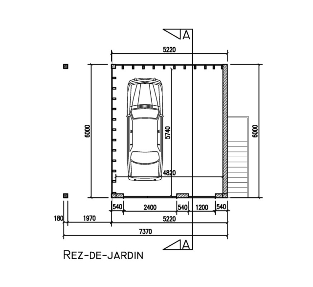 Bouw van een garage ii manhave s a r l for Taille garage 2 voitures